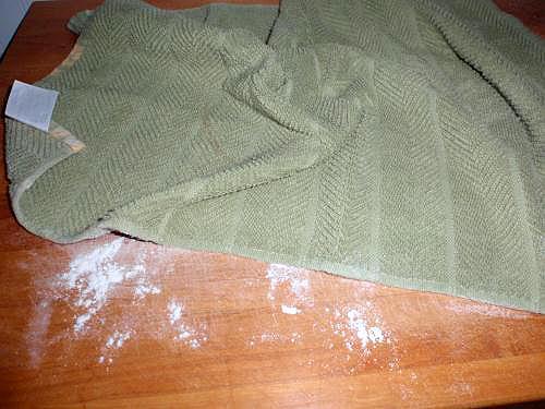 floured towel