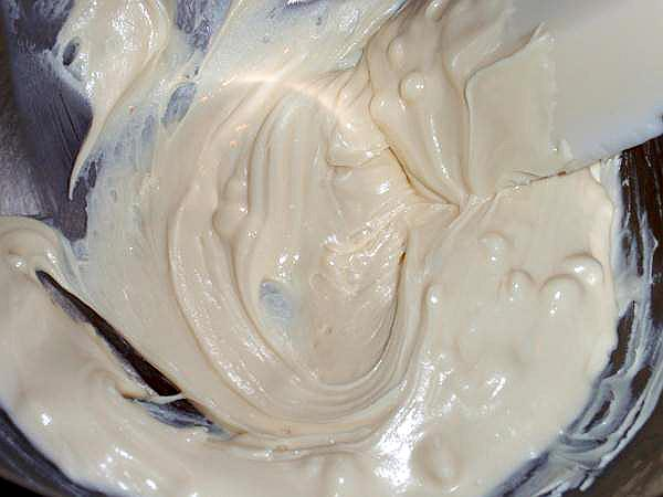 white choclate mousse