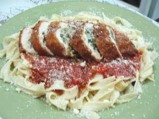 Spinach Stuffed Italian Chicken