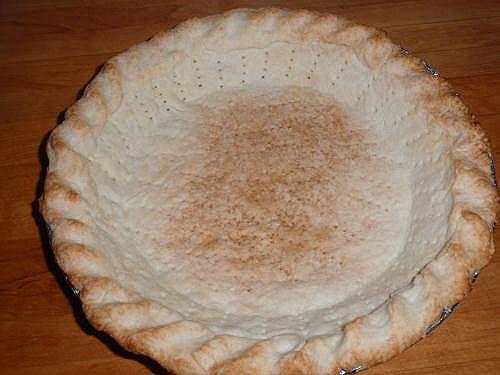 Blind bake pie shell